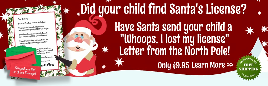 I lost my License – Letter From Santa